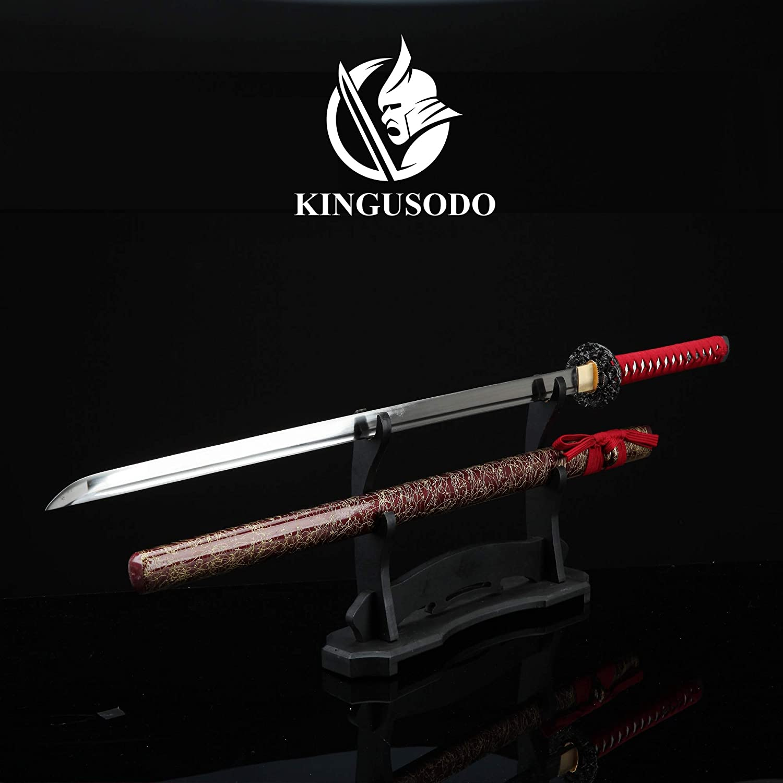 Amazon.com : KINGUSODO Katana, Real Forged 1060 Steel Ninja ...