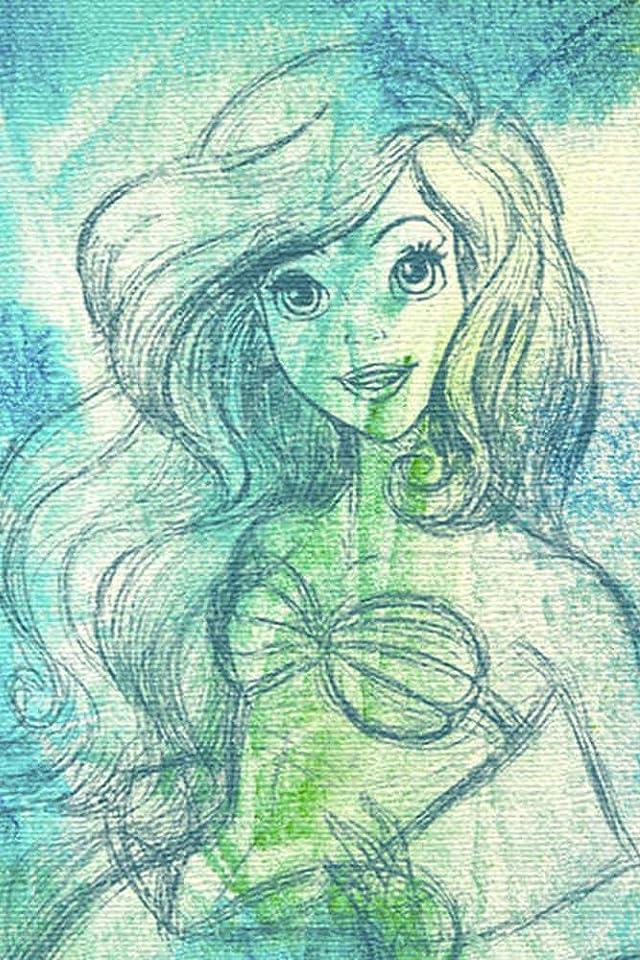 ディズニー アリエル iPhone(640×960)壁紙画像