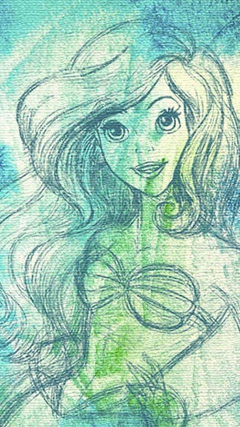 ディズニー アリエル XFVGA(480×854)壁紙画像