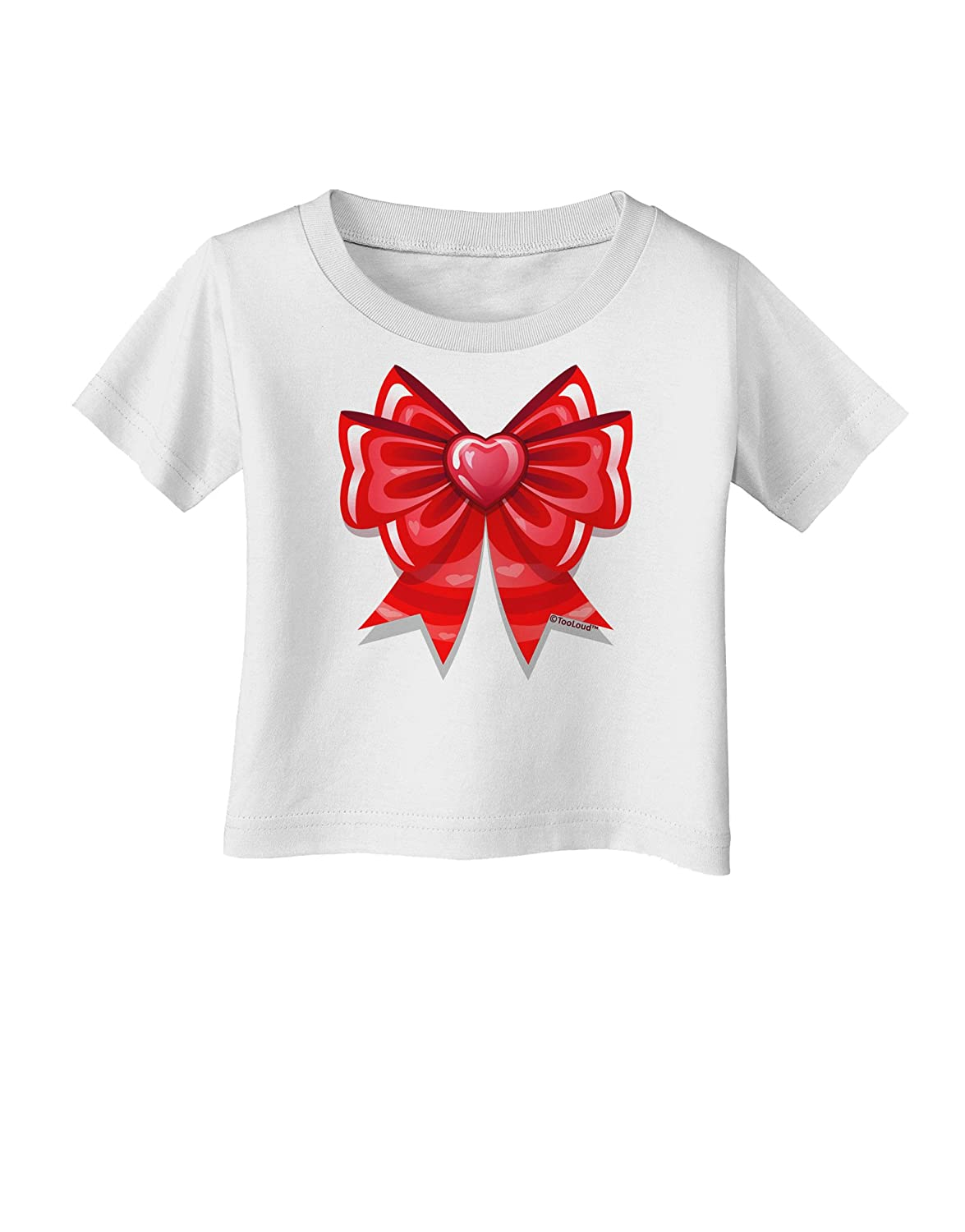 TooLoud Valentines Day Heart Bow Infant T-Shirt