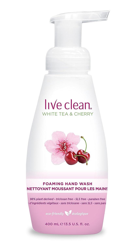 Live Clean Foaming Hand Soap, White Tea and Cherry, 400ml Hain-Celestial 33817