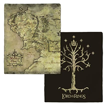 the lord of the rings middle earth map and tree of gondor
