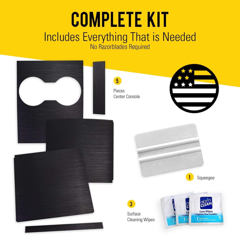 EV Armor Tesla Model 3 Center Console Wrap Kit Carbon Fiber White