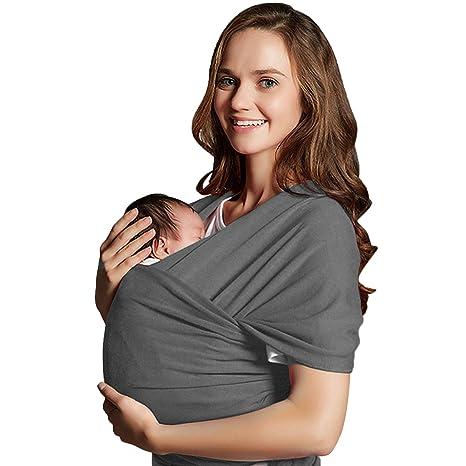 Echarpe de Portage des Bébés, Mopalwin Porte-bébé Fait de Coton Elastique, Echarpe c7b498130f9