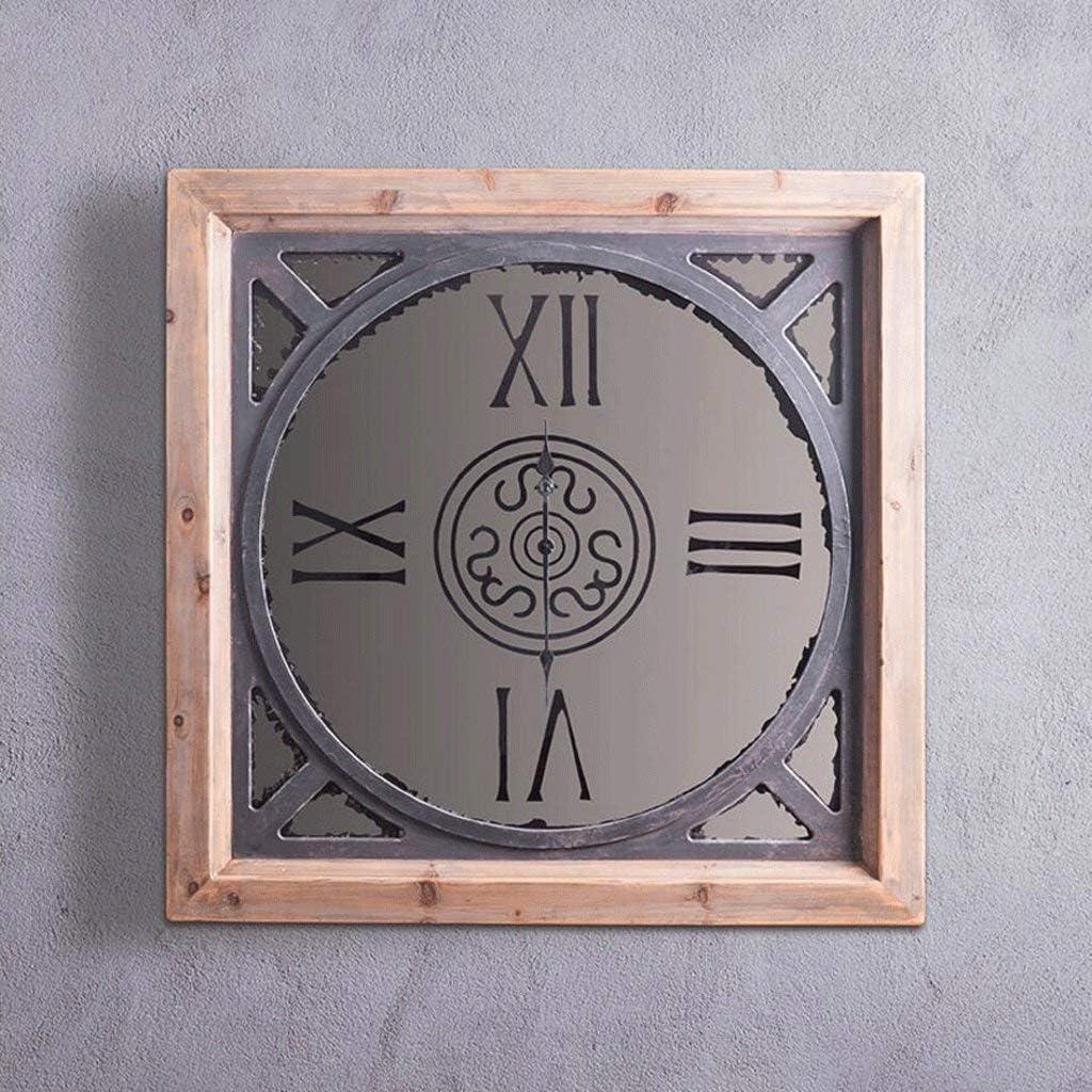 リビングルームの装飾レトロ装飾ミラー時計