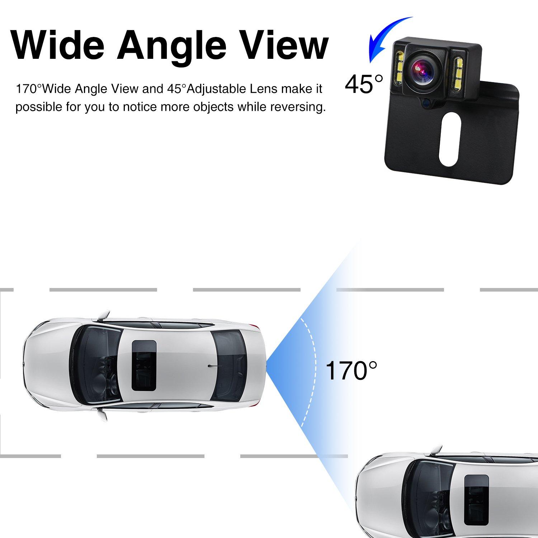 Boscam B1/V/éhicule Cam/éra de recul avec HD Image IP68//étanche Super Vision de Nuit 170/degr/és Angle de visualisation Universel de Voiture Cam/éra de recul pour SUV Jeep Van RV