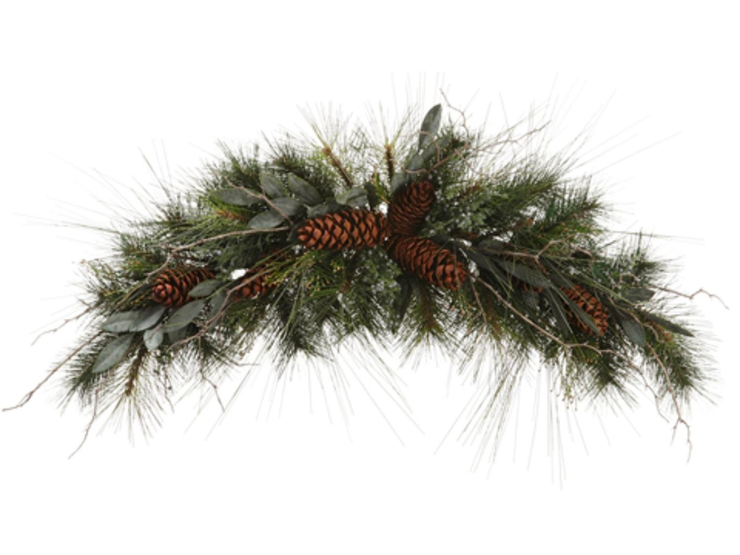 Allstate 32'' Eucalyptus, Berries and Pine Cone Artificial Christmas Swag - Unlit