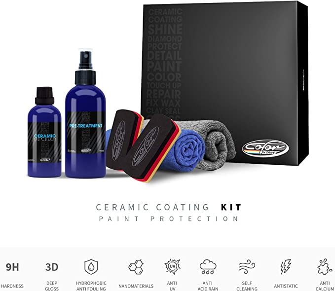 Color N Drive Deep Gloss 9H Car Ceramic Coating Paint Protection Kit