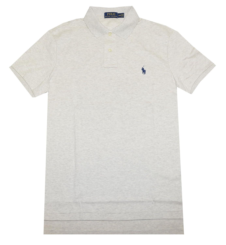 Polo Ralph Lauren Men\u0027s Medium Fit Interlock Polo Shirt-Liquid Blue at  Amazon Men\u0027s Clothing store: