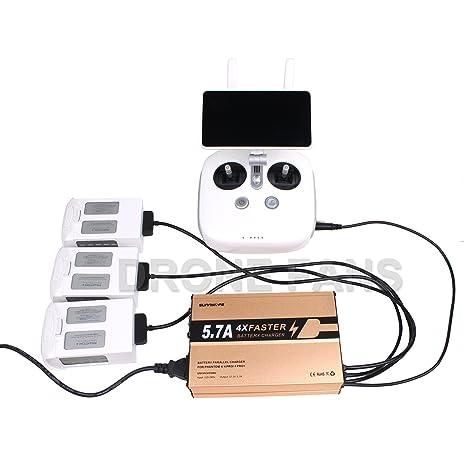 Drone ventiladores 4 in1 Cargador rápido de batería y mando a ...
