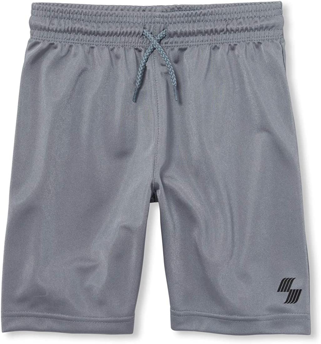 The Childrens Place Baby Boys 2 Pack Solid Mesh Shorts
