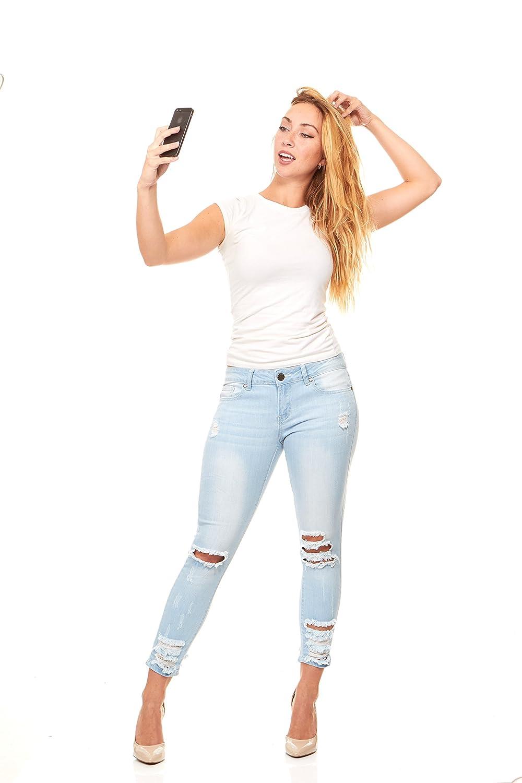 Amazon.com: cubierta niña Denim Jeans para mujer Juniors ...