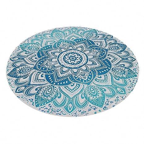 Nuevo grande 150 cm verano gasa flores impreso Ronda de toallas de playa círculo toalla de