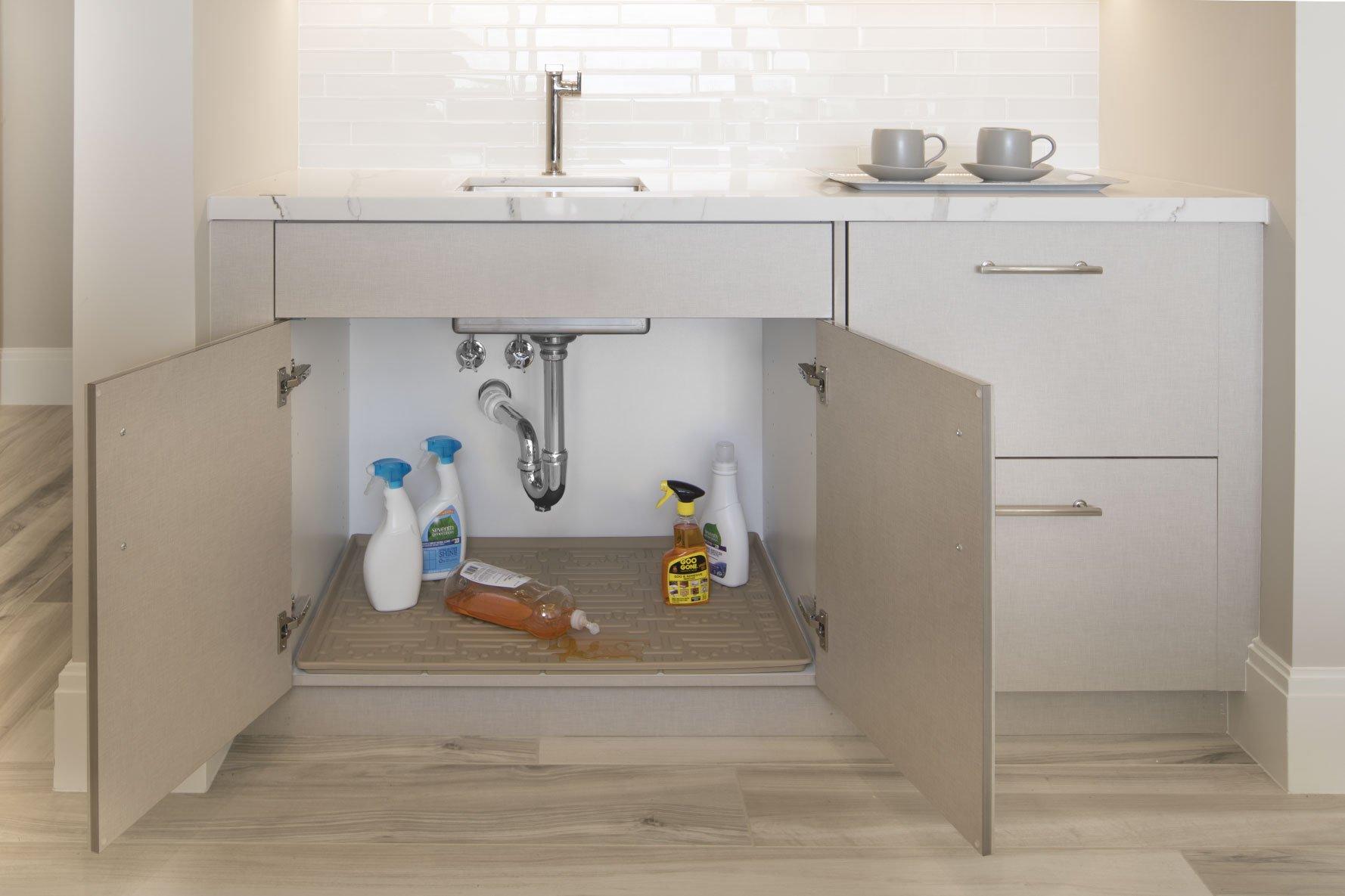 Xtreme Mats Under Sink Bathroom Cabinet Mat, 24 5/8 X 18 7/8, Beige