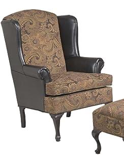 Serta Upholstery 2200WBC 2200WBC17 Traditional Style Wing Back Chair In  Sanmar, Chocolate/raisin