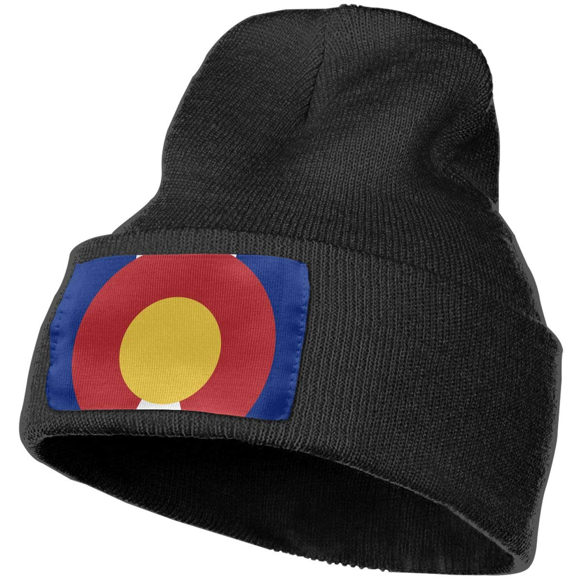 Sheery Colorado State Flag Casual Knit Cap for Men Women 100/% Acrylic Acid Skull Cap Woolen Hat