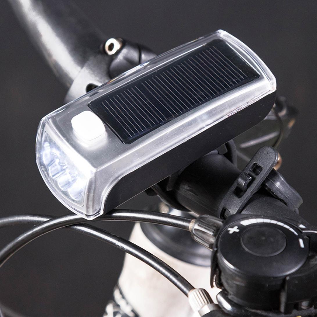 Ecosin Fashion Charge The New 4 LED Bike Solar Headlamp + Speaker