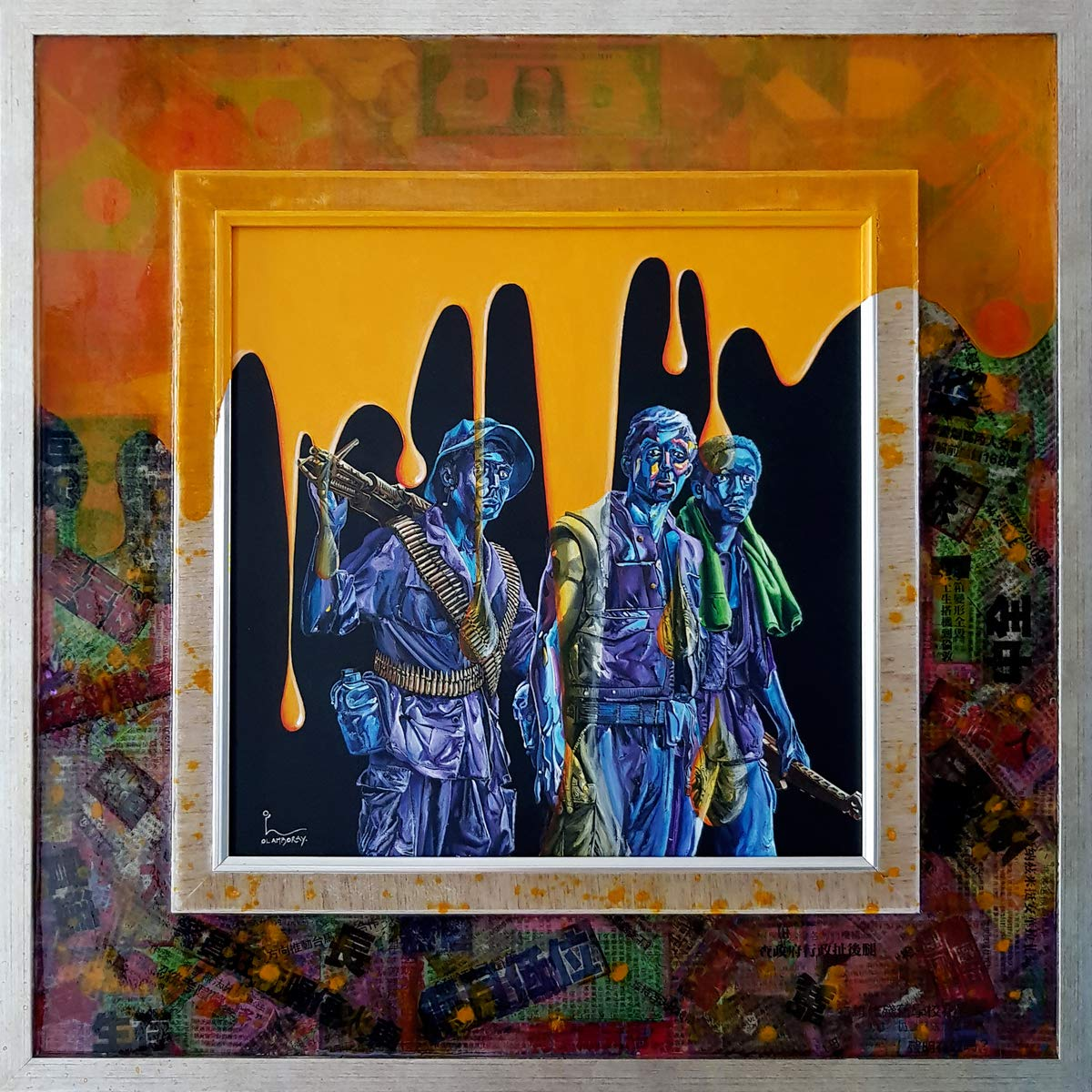 American History Part III: Vietnam War - Agent Orange (Limited Edition on Canvas - 15x15 in) by