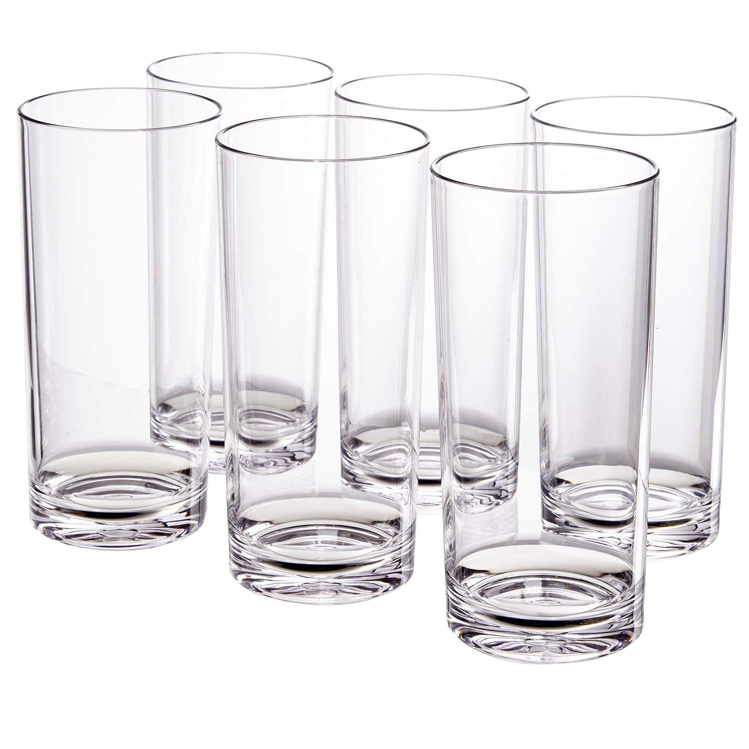 Classic 24-ounce Premium Quality Plastic Tumbler | set of 6 Clear