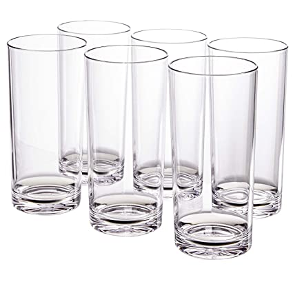 718c6a1e2ef4 Amazon.com | Classic 24-ounce Premium Quality Plastic Tumbler | set of 6  Clear: Mixed Drinkware Sets