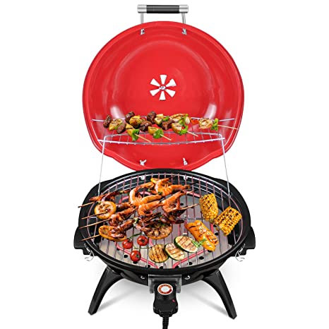 Amazon.com: Techwood - Parrilla eléctrica para barbacoa ...