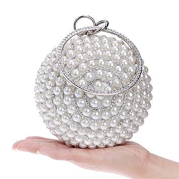 78b7d301c8 Amazon.com: Clutch Bag Women Pearl Handbag Ball Clutch Purse Evening ...