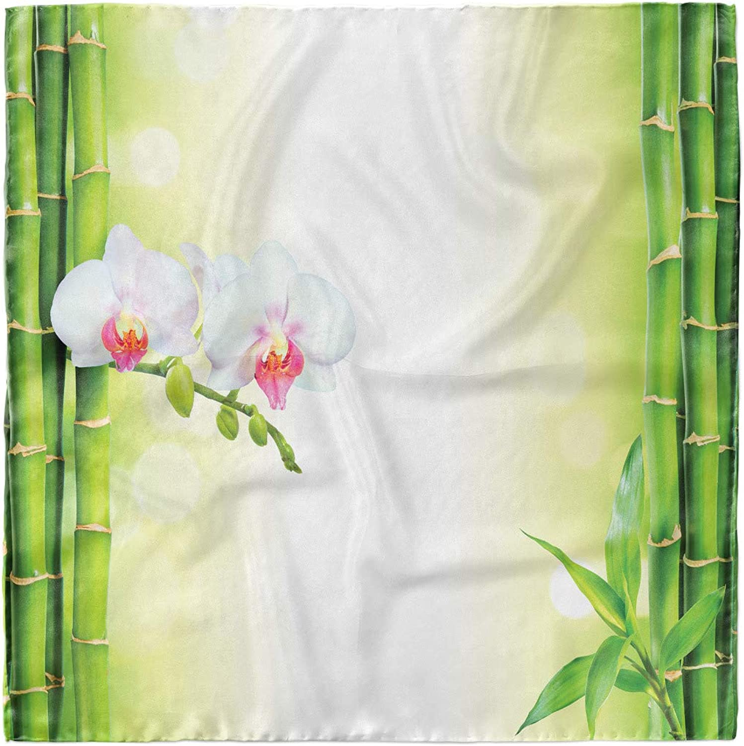 Hijab Scarf Ambesonne Spa Headscarf Orchids Bamboo Branches