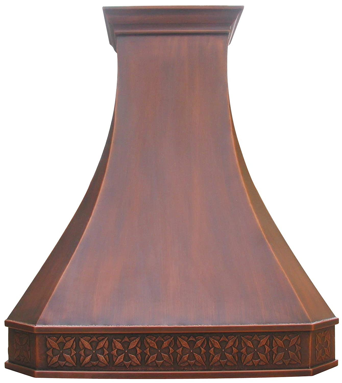 "Copper Kitchen Oven Hood with Efficient Range Hood Insesrt Sinda H3SA (W36""xH19"" Island)"