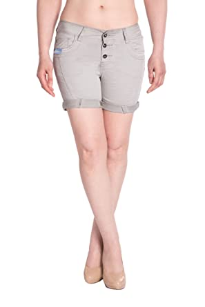 Blue Monkey Damen Jeans Shorts BM3415- Grau  Amazon.de  Bekleidung 588d721744