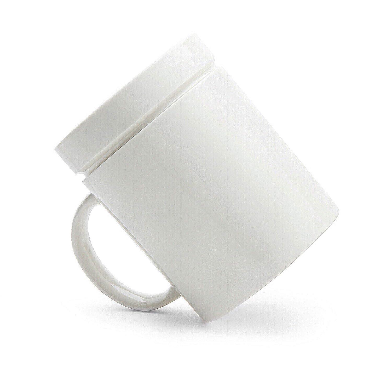 Dripless Coffee Mug 13 oz White Ceramic Unique Mug for Coffee and Tea Unique Office Gift Stirling Co