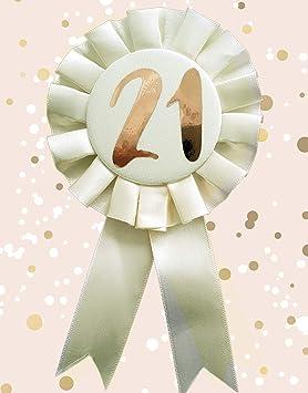 Alandra Cumpleaños RGB-21 21st Crema y Oro Rosa metálico ...