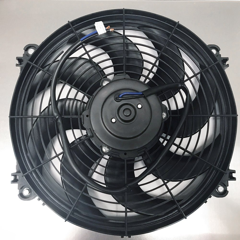 JSD M060 14 Inch Radiator Cooling Slim Electric Fan with Aluminum Shroud 22-1//4H x 17-1//4W Assmebly Universal