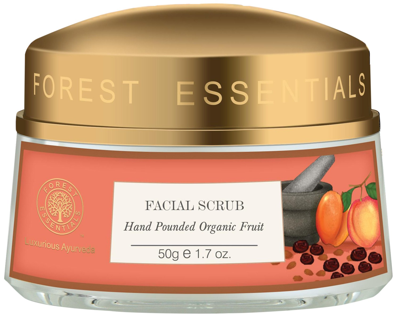 Forest Essentials Hand Pounded Organic Fruit Scrub - 50g