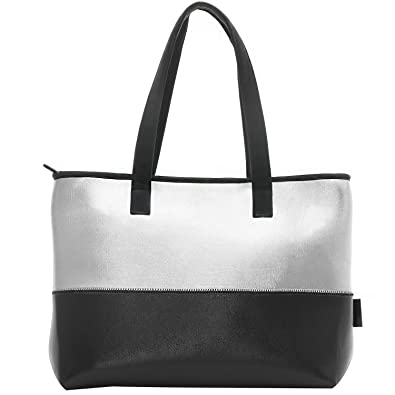 78445bcea9 WARUDA LANE Women s Beach Bag Shoulder Bag Ladies Girls Handbags Soft  Premium leather   Nylon Bowling Bag Hobos High Quality Lightweight Tote Bag  Shopping ...