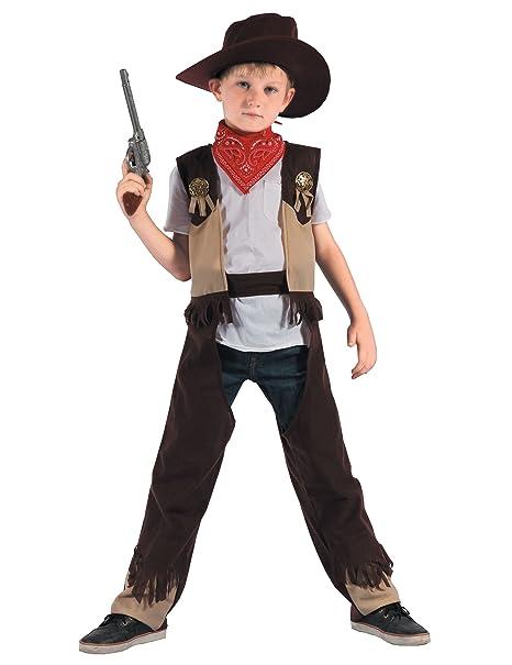 Disfraz de vaquero rodeo niño 3-4 años (98 104)  Amazon.es  Juguetes ... d46d7ec3c40