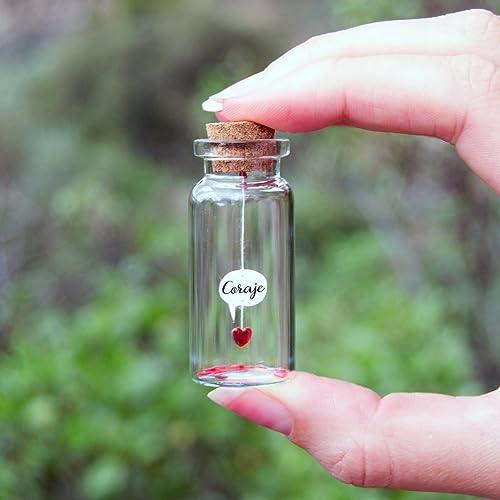 Mensaje en una botella. Miniaturas. Regalo personalizado. Divertida postal. Motivación