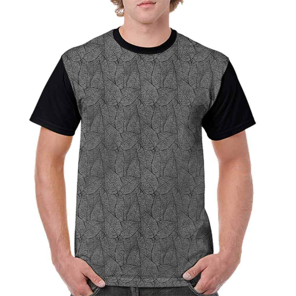 Fashion T-Shirt,Leaves Ornate Flora Fashion Personality Customization