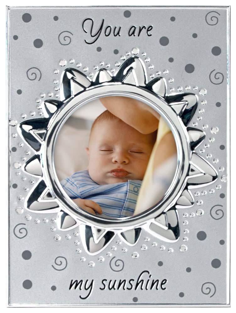 Malden International Designs Baby Memories You are my Sunshine Two Tone Silver Picture Frame to Hold 4 by 4-Inch Photo 5422-10