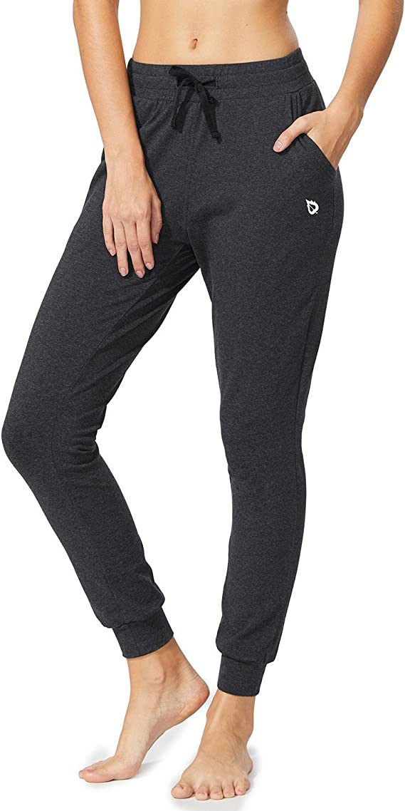 BALEAF Women's Active Yoga Sweatpants Workout Joggers Pants Cotton Lounge Sweat Pants with Pockets