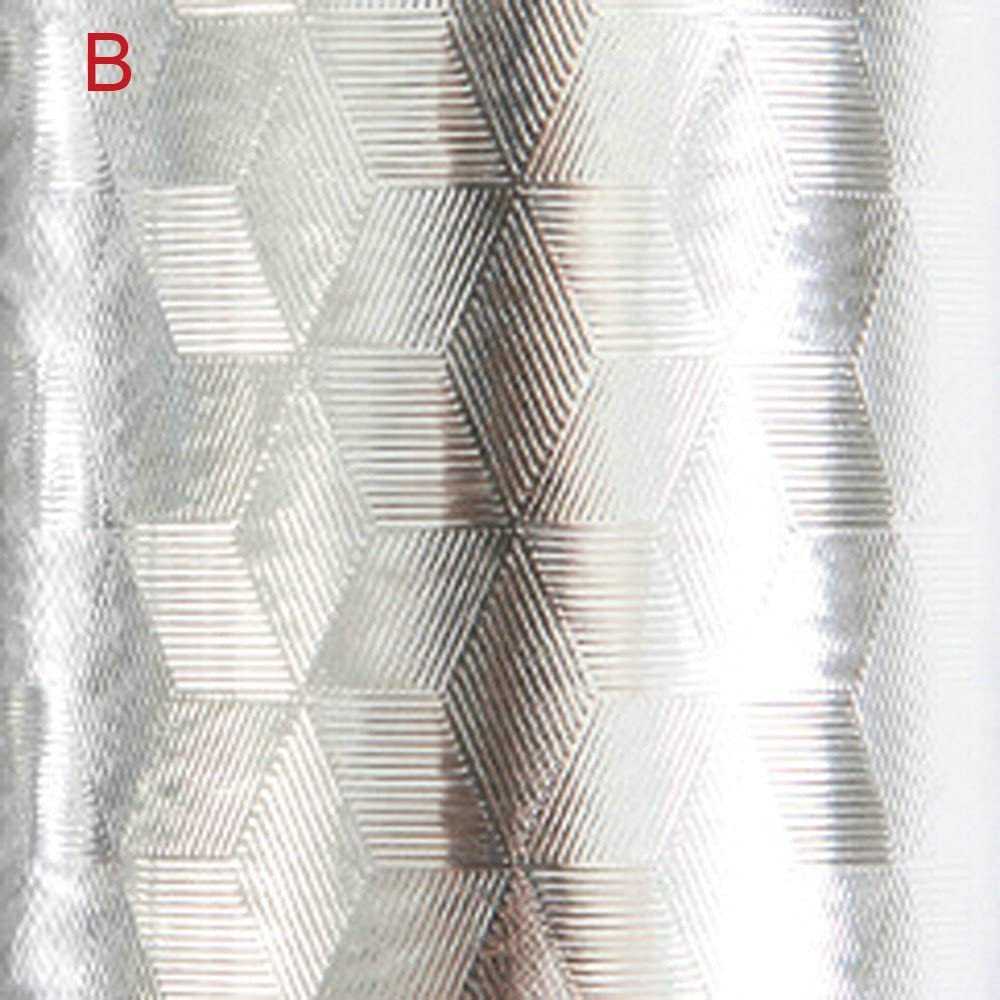 DingLong /Ölbest/ändiger Aufkleber A K/üchen Badezimmer Selbstklebende Tapeten wasserdichte Folie Aufkleber /Öl-Beweis Aluminiumfoli DIY Aluminiumfolie /ölbest/ändiger Aufkleber 40X100cm