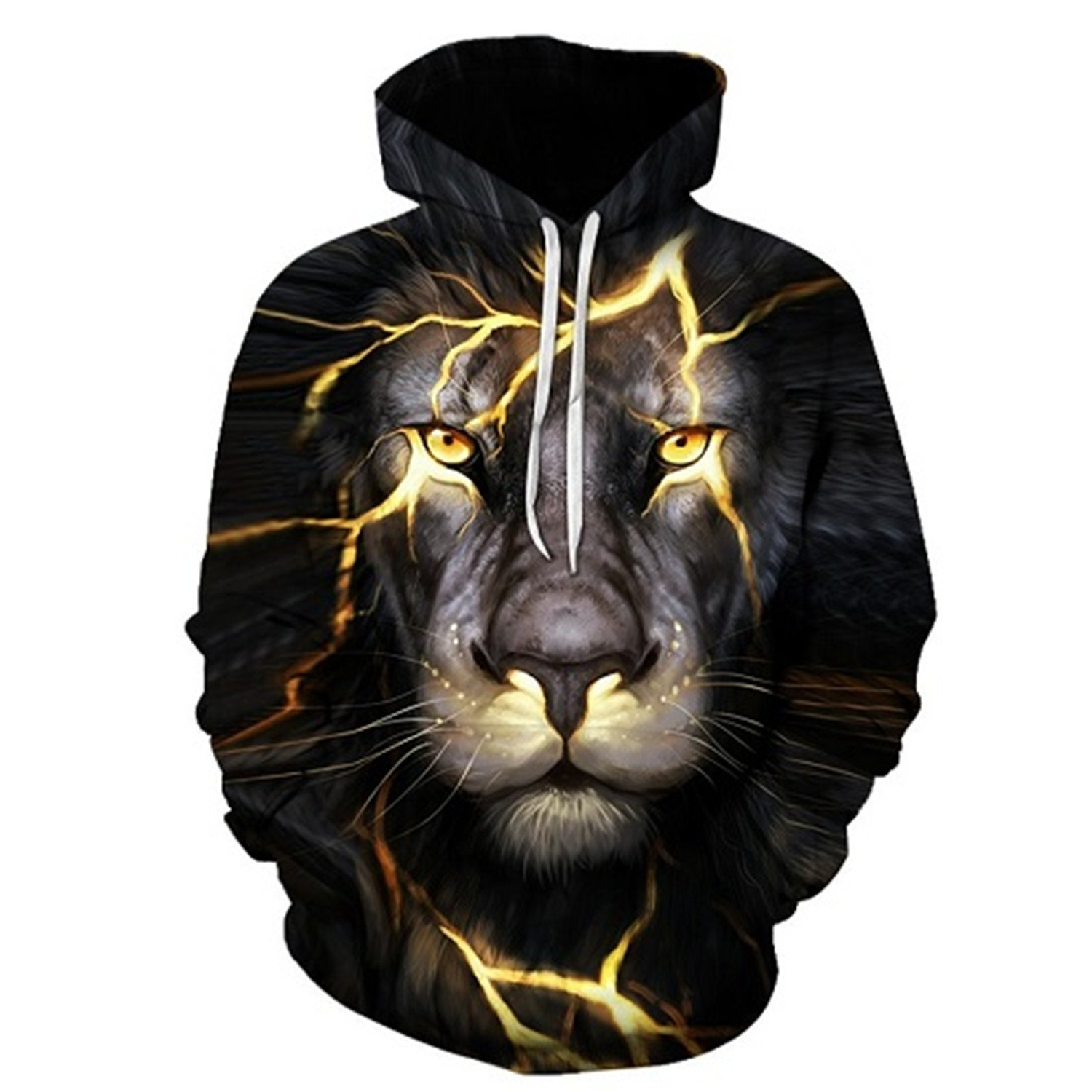 Matterin Christiao New Fashion Men//Women 3D Sweatshirts Print Paisley Lightning Lion Hoodies Thin Hooded Pullovers Tops
