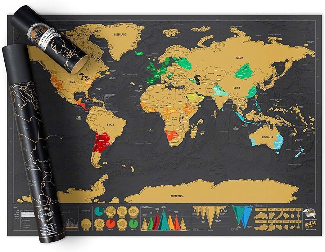 Luckies of London - Mapa para rascar, 82.5 x 59.4 cm: Amazon.es: Oficina y papelería