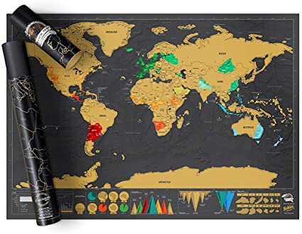 Luckies of London - Mapa para rascar, 82.5 x 59.4 cm: Amazon.es ...