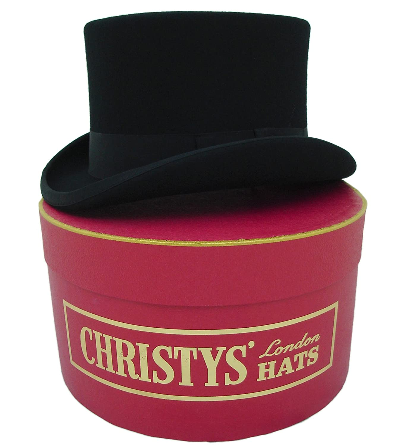 Christys of London Top Hat and Hat Box (57cm Medium)