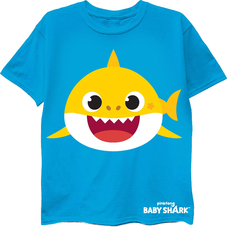Pinkfong Boys' Toddler Baby Shark Short Sleeve T-Shirt