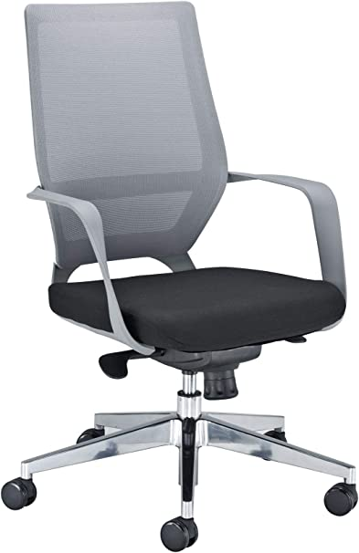 Office Hippo Designer Mesh Office Chair With Lock Tilt Tension Control Mechanism Grey And White Back Black Seat Amazon Co Uk Kitchen Home