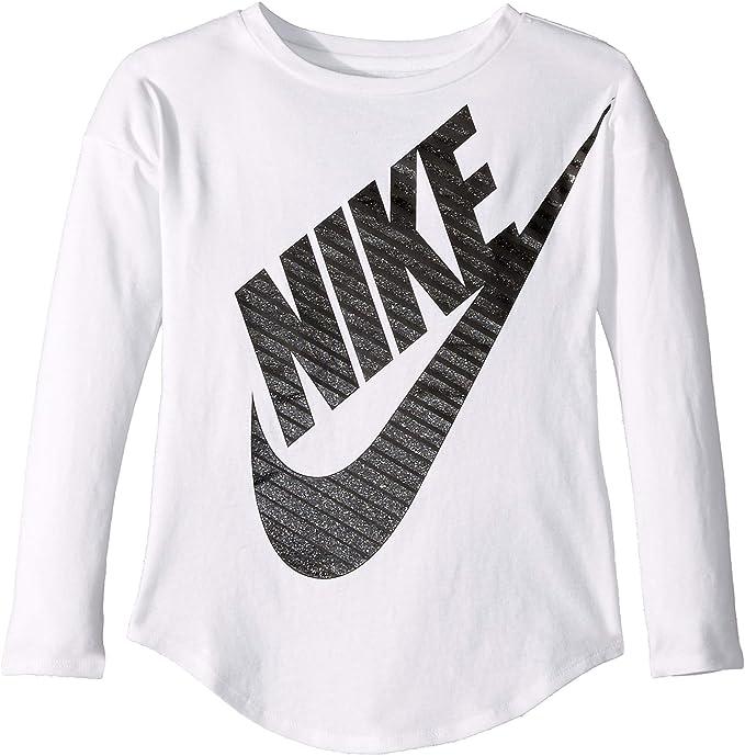 3b2e6212d678 NIKE Children s Apparel Girls  Little Long Sleeve Sportswear Graphic T-Shirt
