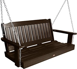 product image for Highwood AD-PORL2-ACE Lehigh Porch Swing, 4 Feet, Weathered Acorn