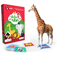 Shifu Safari - 60 Animals Cards AR Educational 4D Game for Toddlers, Toy Gift for Kids, Age 2 to 10