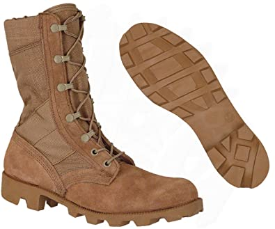 Amazon.com | Combat Boot, Desert Tan, Genuine U.S. Military Issue ...